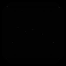 Silhueta detalhada do frame quadrado da pétala da flor do mosaico