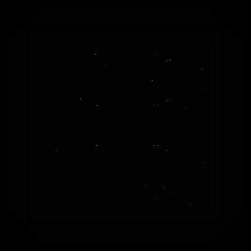 Silhueta detalhada do frame quadrado da pétala da flor do mosaico Transparent PNG