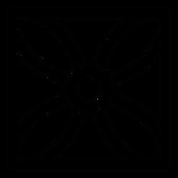 Linha de moldura quadrada de pétala de flor de mosaico