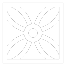 Linha quadrada de pétala de flor de mosaico