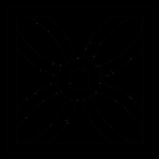 Linha de moldura quadrada de pétala de flor de mosaico Transparent PNG