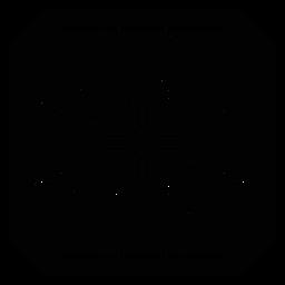 Mosaico marco circulo flecha silueta detallada
