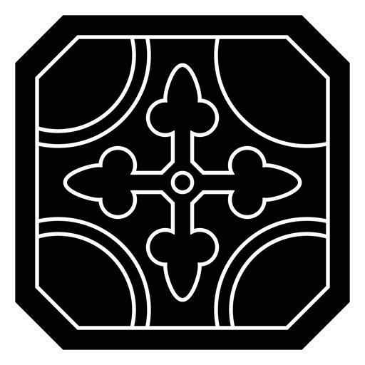 Mosaic circle arrow detailed silhouette Transparent PNG