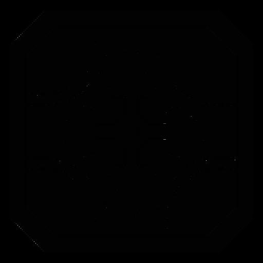 Mosaico marco circulo flecha silueta detallada Transparent PNG