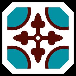 Marco de mosaico círculo flecha plana
