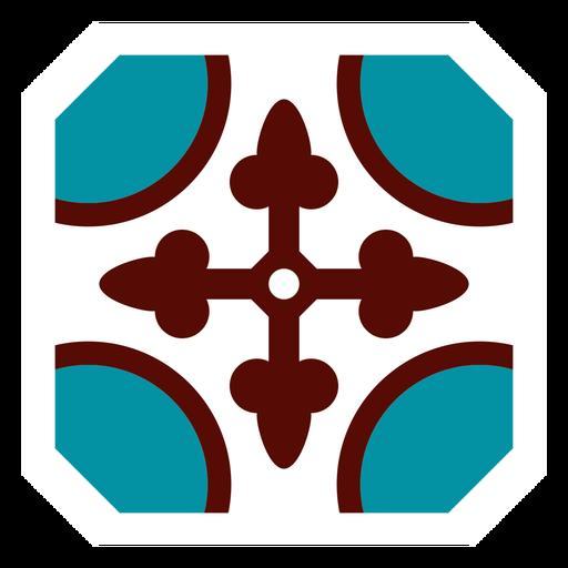 Marco de mosaico círculo flecha plana Transparent PNG