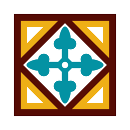 Mosaico círculo flecha rombo plano