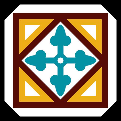 Mosaic circle arrow rhomb flat Transparent PNG