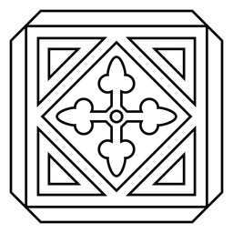 Curso de rhomb do mosaico círculo seta