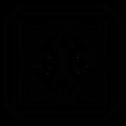 Mosaico marco círculo flecha rombo trazo