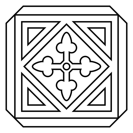 Mosaico moldura círculo seta rhomb acidente vascular cerebral Transparent PNG