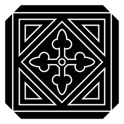 Mosaico círculo flecha rombo triángulo silueta detallada