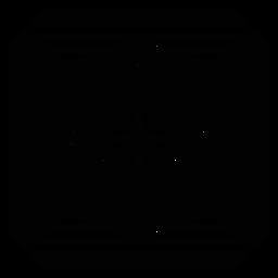 Silhueta detalhada do triângulo do mosaico do círculo da seta do losango