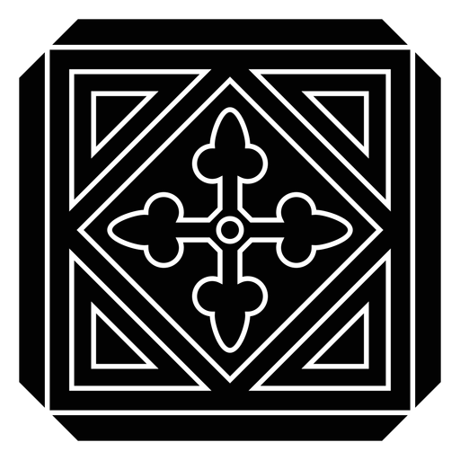 Silhueta detalhada do triângulo do rhomb da seta do círculo do quadro do mosaico Transparent PNG