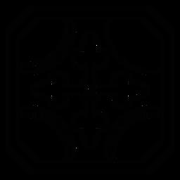 Traçado de seta do círculo de mosaico