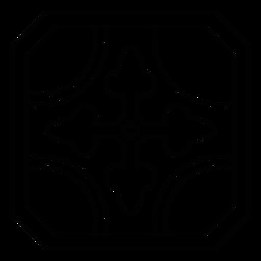 Mosaic frame circle arrow stroke Transparent PNG