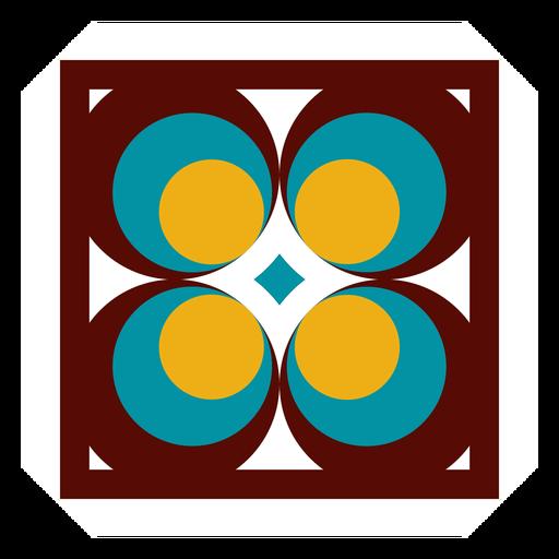 Círculo de quadro de mosaico rhomb plana Transparent PNG