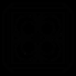 Mosaico marco círculo rombo trazo
