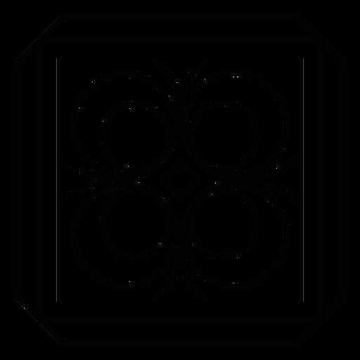Mosaic frame circle rhomb stroke Transparent PNG