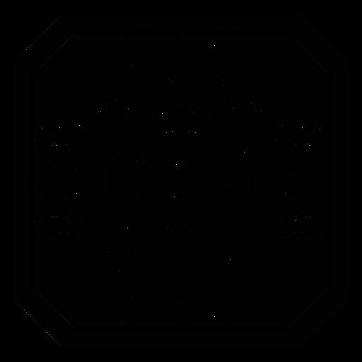Silhueta detalhada quadrada do círculo do quadro do mosaico Transparent PNG