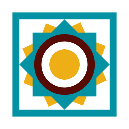 Mosaic circle square flat Transparent PNG