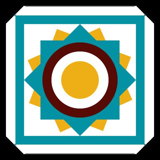 Praça de círculo de quadro de mosaico liso Transparent PNG
