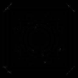 Marco de mosaico círculo trazo cuadrado