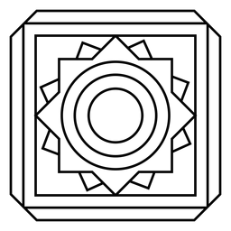 Mosaic frame circle square stroke