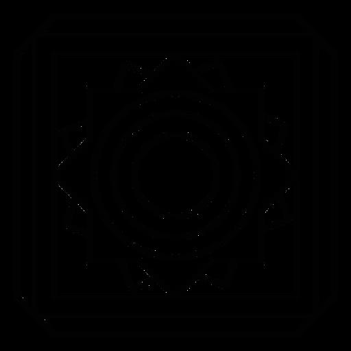 Traço quadrado do círculo de mosaico Transparent PNG
