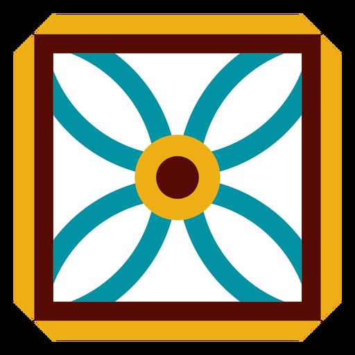 Mosaic flower square petal flat Transparent PNG