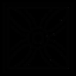 Flor de mosaico trazo de pétalo cuadrado