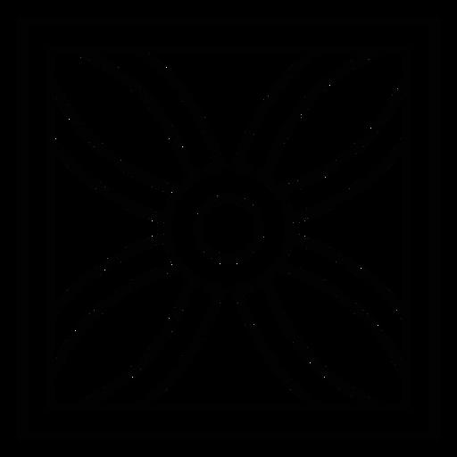 Mosaic flower square petal stroke Transparent PNG