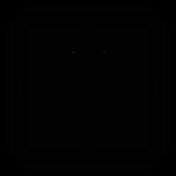 Mosaico marco pétalo cuadrado flor silueta detallada