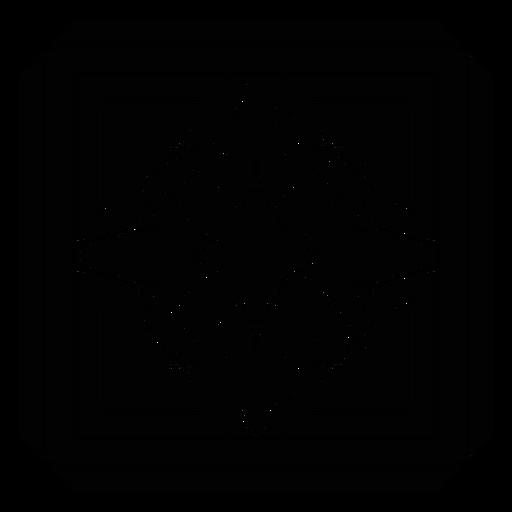 Mosaic petal square flower detailed silhouette Transparent PNG