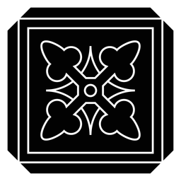 Mosaic frame square arrow detailed silhouette
