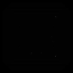 Silhueta detalhada da seta quadrada do quadro do mosaico