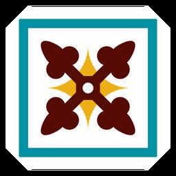Mosaico marco cuadrado flecha plana