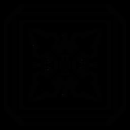 Traçado de seta quadrada de moldura de mosaico