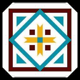 Mosaico marco cuadrado flecha triángulo plano