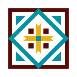 Mosaik quadratisches Pfeildreieck flach