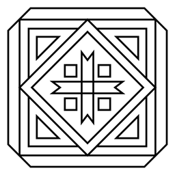 Mosaik quadratischer Pfeil Dreieckstrich