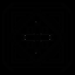 Traço de triângulo de seta quadrada em mosaico
