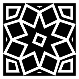 Mosaic square detailed silhouette