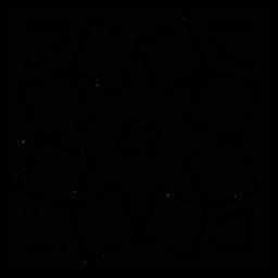 Mosaico marco cuadrado silueta detallada