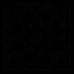 Curso quadrado de moldura de mosaico