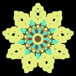 Silhueta detalhada da flor em rede de mosaico