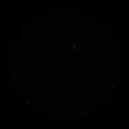 Mosaic net flower stroke