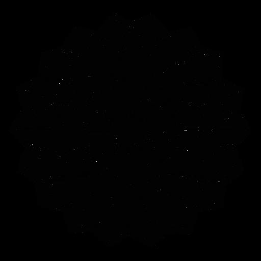 Mosaic net flower stroke Transparent PNG