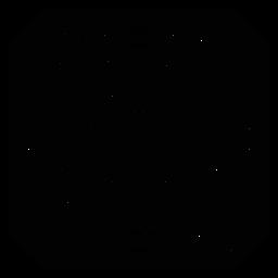 Mosaico pétalo flor círculo marco detallado silueta