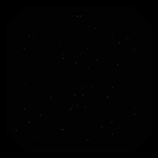 Flor detalhada do círculo da flor da pétala do mosaico Transparent PNG